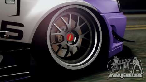 Nissan Skyline R34 Stance Nico Yazawa Itasha para la visión correcta GTA San Andreas