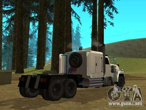 Petroltanker v2 para GTA San Andreas vista posterior izquierda