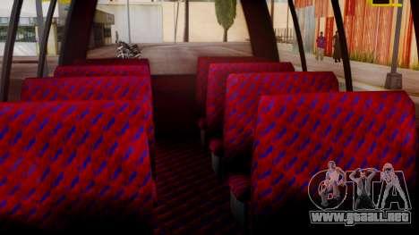 GTA 5 Rental Shuttle Bus Touchdown Livery para GTA San Andreas vista hacia atrás