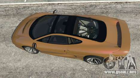 GTA 5 Jaguar XJ220 v1.2.5 vista trasera