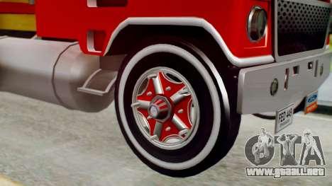 Ford 9000 Con Estacas Stylo Colombia para GTA San Andreas vista posterior izquierda