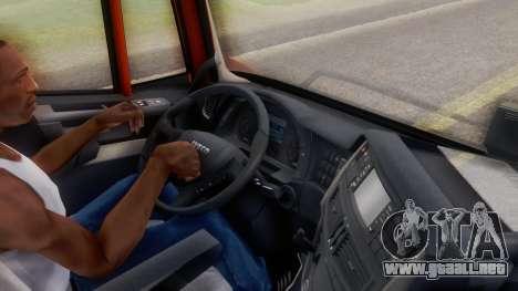 Iveco Stralis HI-WAY para GTA San Andreas vista hacia atrás