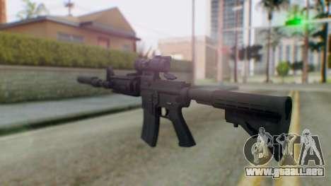 Arma Armed Assault M4A1 Aimpoint Silenced para GTA San Andreas segunda pantalla