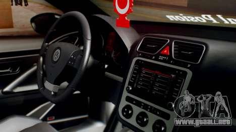 Volkswagen Scirocco R Army Edition para la visión correcta GTA San Andreas