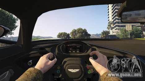 GTA 5 Aston Martin Vulcan v1.0 vista trasera