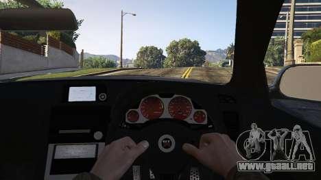 GTA 5 Nissan Skyline GTR R34 vista trasera
