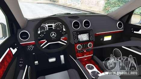 GTA 5 Mercedes-Benz ML63 (W164) 2009 vista lateral trasera derecha