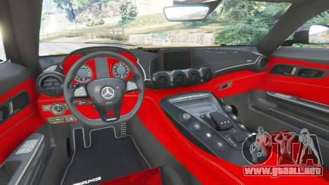 GTA 5 Mercedes-Benz AMG GT 2016 [LibertyWalk] vista lateral trasera derecha