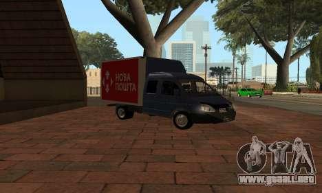 GAZelle 33023 Nova Poshta para GTA San Andreas left