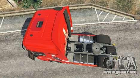 GTA 5 Mercedes-Benz Actros Euro 6 [Coca-Cola] vista trasera