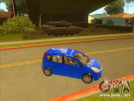 Nissan Note v0.5 Beta para la visión correcta GTA San Andreas