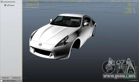 GTA 5 Nissan 370z v2.0 vista lateral derecha