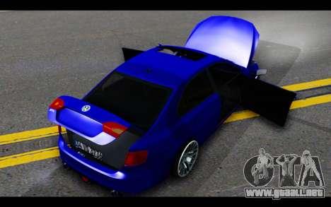 Volkswagen Jetta para vista inferior GTA San Andreas