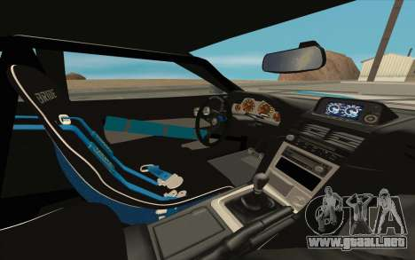 Elegy DRIFT KING GT-1 [2.0] (New wheels) para GTA San Andreas interior