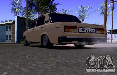 VAZ 2107 KBR para la visión correcta GTA San Andreas
