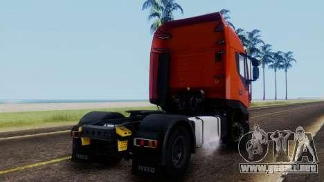 Iveco Stralis HI-WAY para GTA San Andreas left