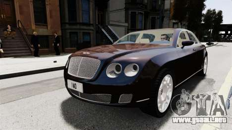Bentley Continental 2010 Flying Spur Beta para GTA 4 vista hacia atrás