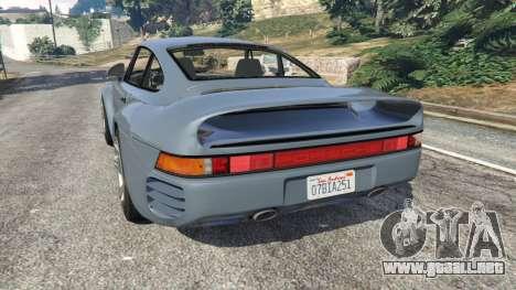 GTA 5 Porsche 959 1986 vista lateral izquierda trasera