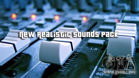 New Realistic Sounds Pack para GTA San Andreas