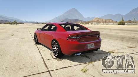 GTA 5 2015 Dodge Charger RT 1.4 vista lateral izquierda trasera