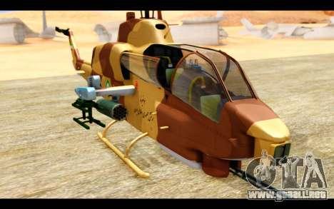 AH-1W IRIAF SuperCobra para GTA San Andreas vista hacia atrás