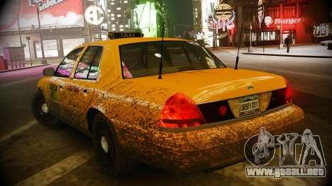 Ford Crown Victoria L.C.C Taxi para GTA 4 Vista posterior izquierda