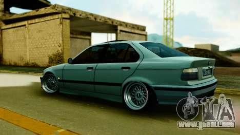 BMW 320 E36 para GTA San Andreas vista posterior izquierda