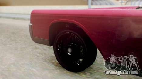 GTA 5 Vapid Chino Tunable PJ para GTA San Andreas vista posterior izquierda