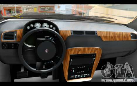 GTA 5 Declasse Granger FIB IVF para GTA San Andreas vista posterior izquierda