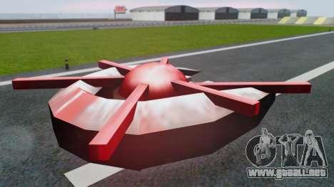 Alien Ship Red-Gray para GTA San Andreas left