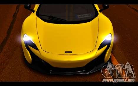 McLaren 650S Coupe para vista inferior GTA San Andreas