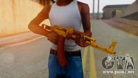 GTA 5 Assault Rifle Luxury Camo para GTA San Andreas