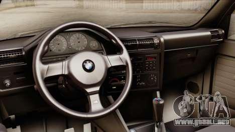 BMW M3 E30 1991 Stock para la visión correcta GTA San Andreas