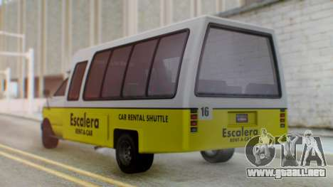 GTA 5 Rental Shuttle Bus Escalera Livery para GTA San Andreas left