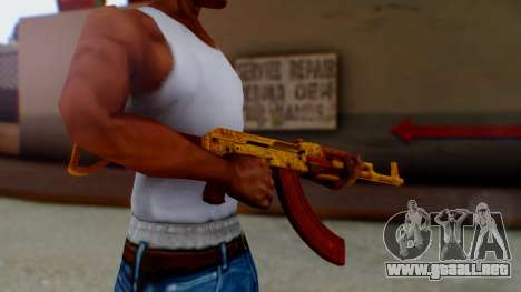 GTA 5 Assault Rifle Luxury Camo para GTA San Andreas segunda pantalla