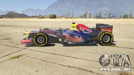 Red Bull F1 v2 redux para GTA 5