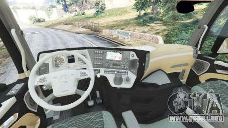 GTA 5 Mercedes-Benz Actros Euro 6 [Brasil] vista lateral trasera derecha