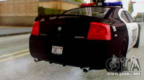 New Police LV para GTA San Andreas vista hacia atrás