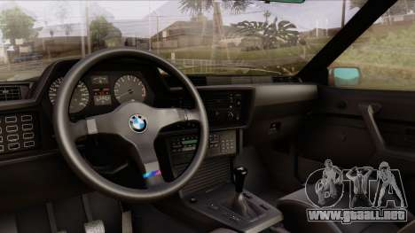 BMW M635 E24 CSi 1984 Stock para GTA San Andreas vista hacia atrás