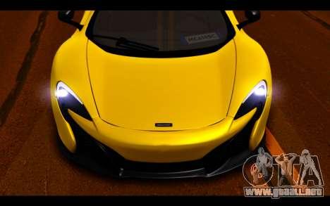 McLaren 650S Coupe para la vista superior GTA San Andreas