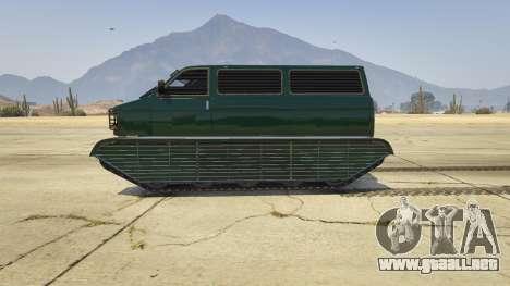 GTA 5 Police Transporter Tracked vista lateral izquierda