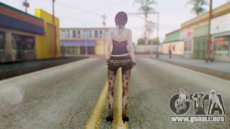 Fatal Frame 4 Misaki Punk Outfit para GTA San Andreas tercera pantalla