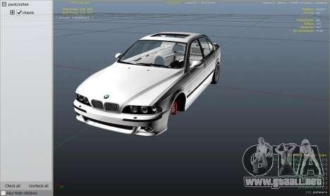 GTA 5 BMW M5 E39 1.1 vista lateral derecha