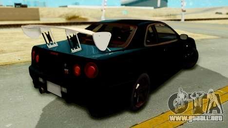 Nissan Skyline GT-R Nismo Tuned para GTA San Andreas left