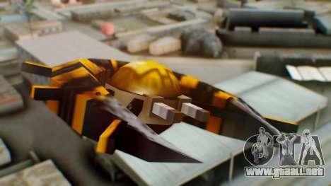 Alien Ship Yellow-Black para GTA San Andreas vista posterior izquierda
