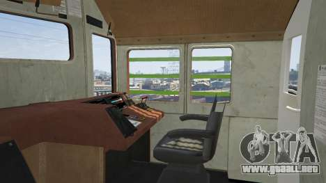 GTA 5 Monster Train vista lateral trasera derecha