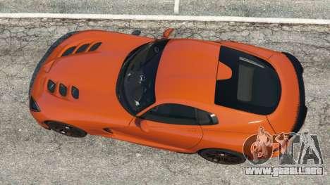 GTA 5 Dodge Viper SRT 2014 vista trasera