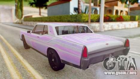 GTA 5 Vapid Chino Tunable IVF PJ para GTA San Andreas interior