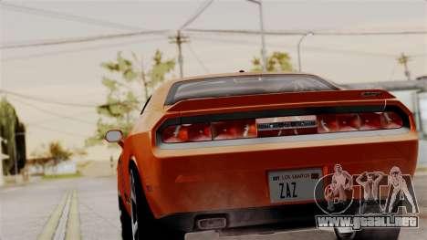 Dodge Challenger SRT-8 2010 para GTA San Andreas left