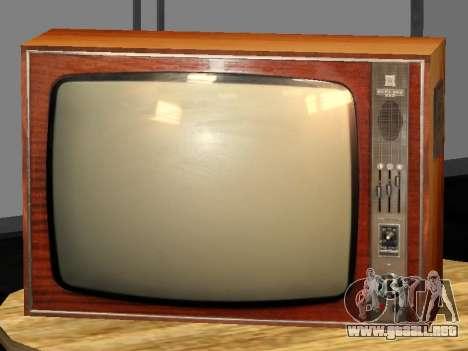 TV de Abedul-212 para GTA San Andreas segunda pantalla